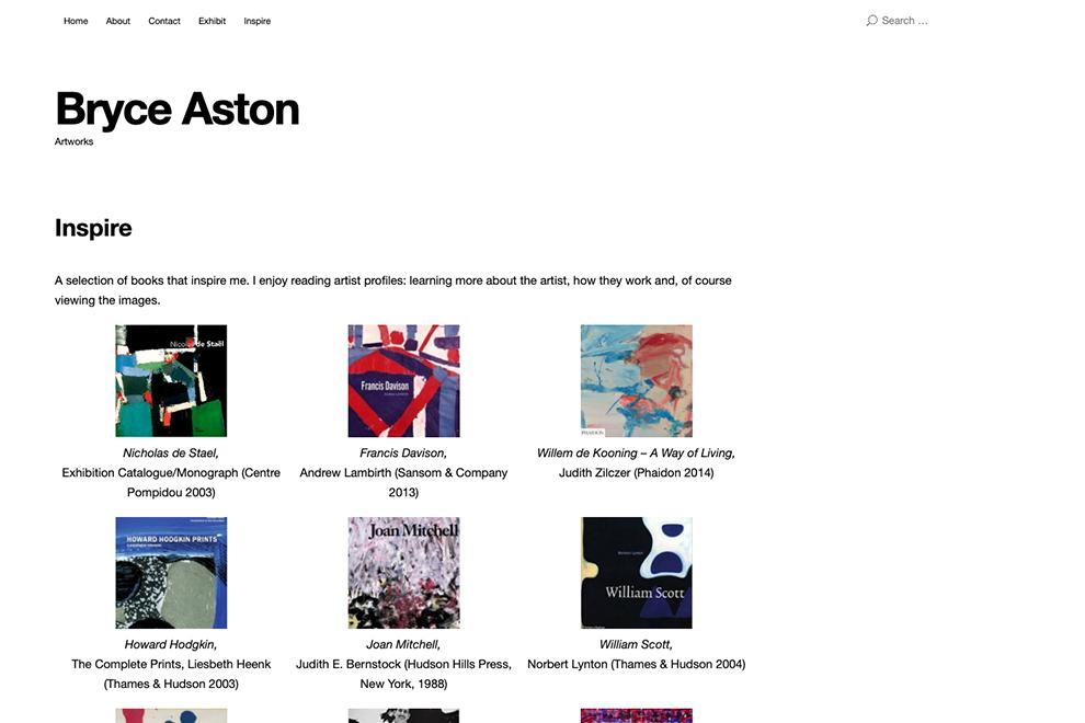 Bryce Aston Website